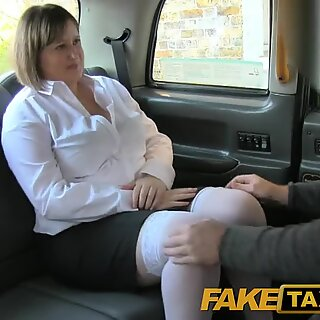 FakeTaxi Back seat ass fucking for curvaceous lass in London taxi cab