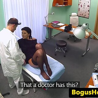 Stockinged euro pussyfucked by lucky doctor