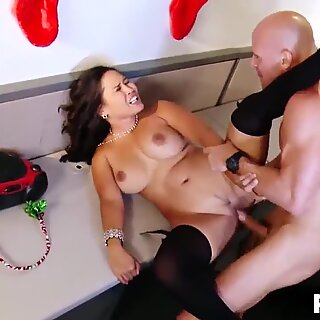 Asian MILF fucked by a shy coworker at a office party
