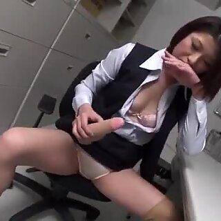 Office dildo play for horny Kaoru Natsuki