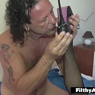 Cum On Her footwear! double Penetration, Double Milf!