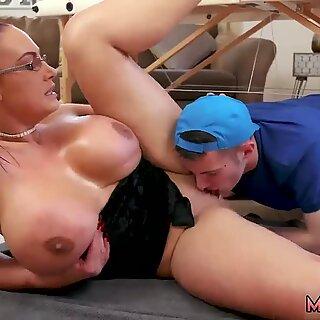 Big Tit Step-Mom Gets a Ass Rimming