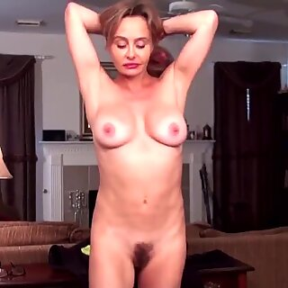 Old but still gorgeous MILF with hairy cunt