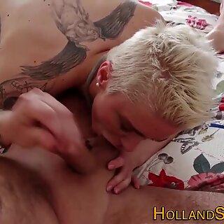 Hooker sucks for spunk