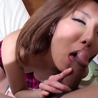 Yuna Hirose exposes her hairy pussy and gets fucked