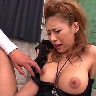 Haruka Sanada pleases several men with blowjob