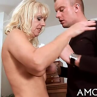 Addicted mature in a hot action