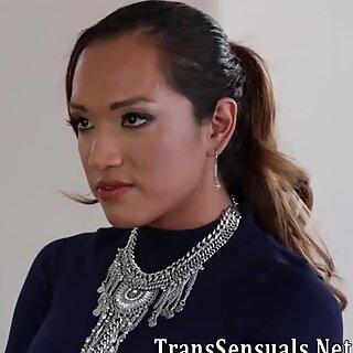 Ts asian fucks and cums