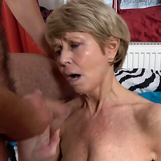 Granny Marsha moans as Rob pounds her