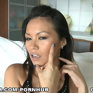 chinese gets pummeled and Creamed on her nice Face