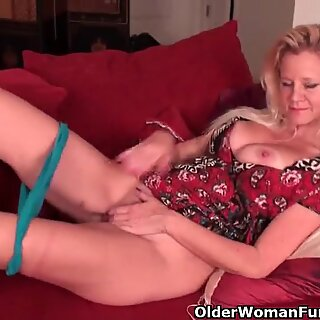 elderly girls drenching their cotton panties with pussy juice