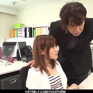 Yumi Maeda gets naughty at work and fucks her boss - More at Japanesemamas.com