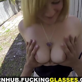 Fucking Glasses - My new daily pussy to fuck