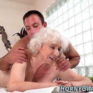 Granny takes masseurs cum
