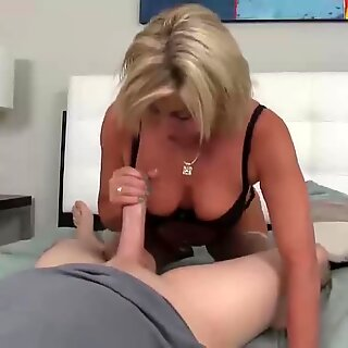 horny cougar point of view blowjob