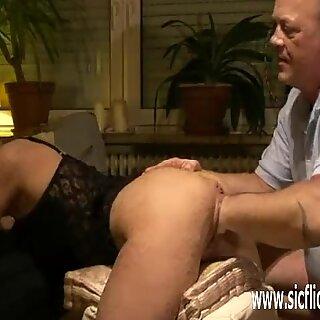 Fisting his wifes cavernous slack pussy