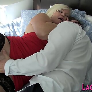 Gran with big butt rides