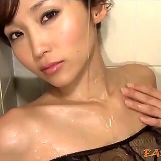 Delicate Japanese mermaid in a romantic mood.