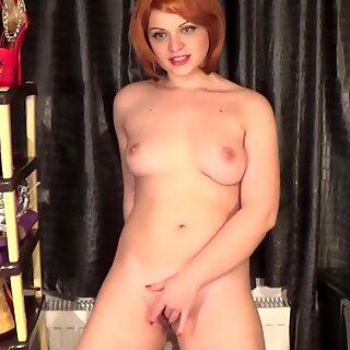 crimson hair bitch having an intense mammary ejaculation